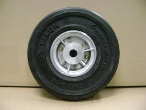 roue 4 pouces 300x4 pneu plein avec moyeux lisse jante aluminium alroc jantes et roues. Black Bedroom Furniture Sets. Home Design Ideas